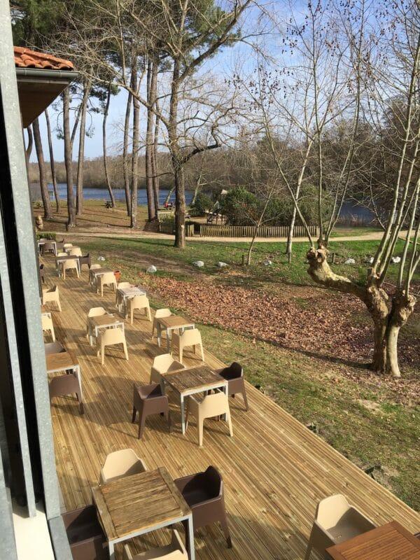 Terrasse Hotel Au Bon Coin du Lac Mimizan 3